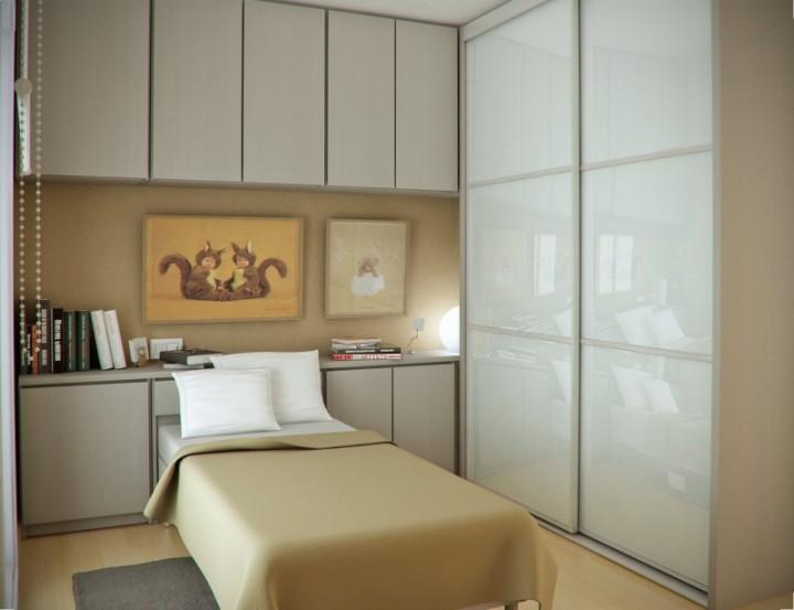 تصاميم غرف نوم مبتكرة للمساحات الضيقة مشاهير