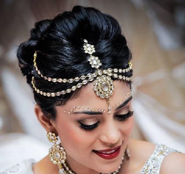 زينة-شعر-العروس-الهندية