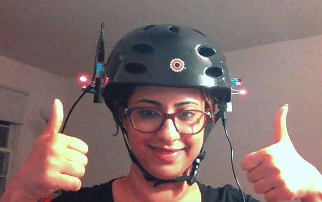 سعودية تبتكر خوذة الكترونية لسائقي الدراجات