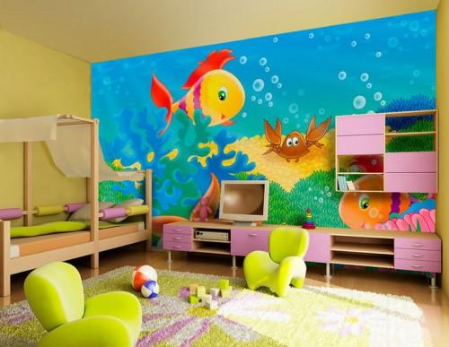 غرف-اطفال-بديكورات-ورق-الحائط-ثلاثي-الابعاد- (1)