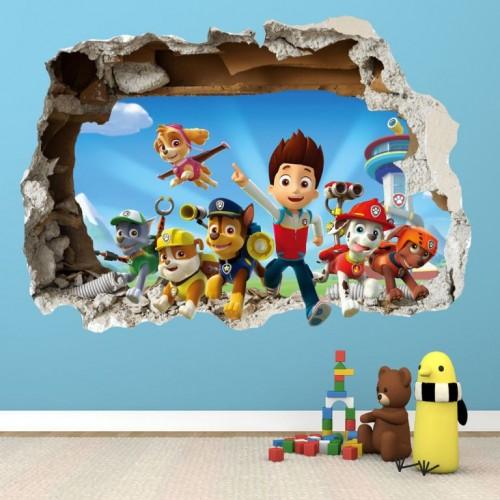 غرف-اطفال-بديكورات-ورق-الحائط-ثلاثي-الابعاد- (10)