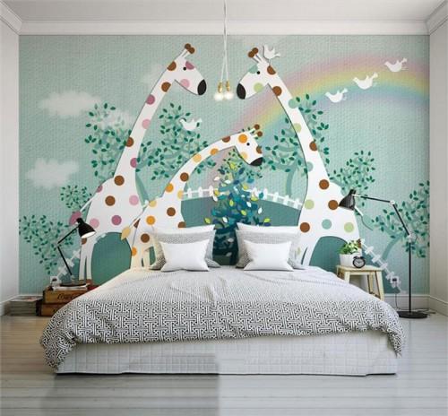 غرف-اطفال-بديكورات-ورق-الحائط-ثلاثي-الابعاد- (13)