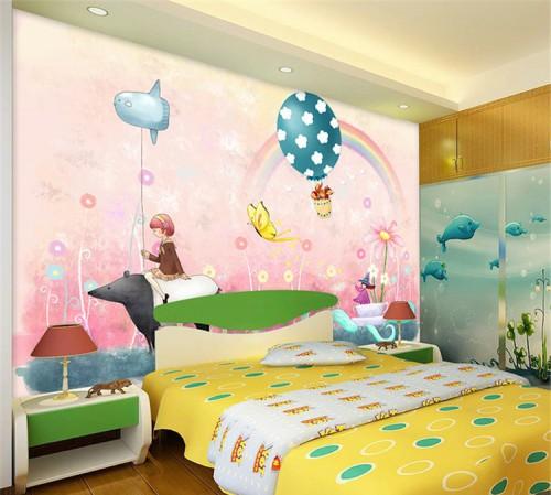 غرف-اطفال-بديكورات-ورق-الحائط-ثلاثي-الابعاد- (2)