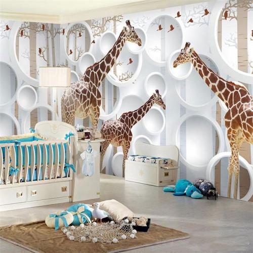 غرف-اطفال-بديكورات-ورق-الحائط-ثلاثي-الابعاد- (4)