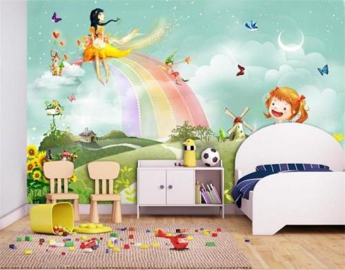 غرف-اطفال-بديكورات-ورق-الحائط-ثلاثي-الابعاد- (6)