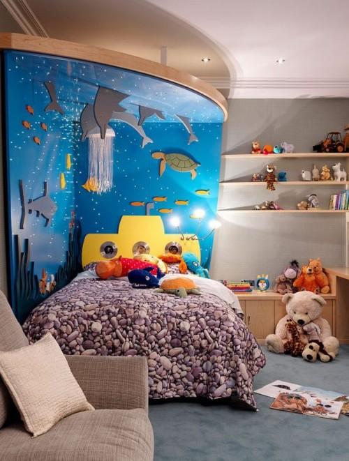 غرف-اطفال-بديكورات-ورق-الحائط-ثلاثي-الابعاد- (7)