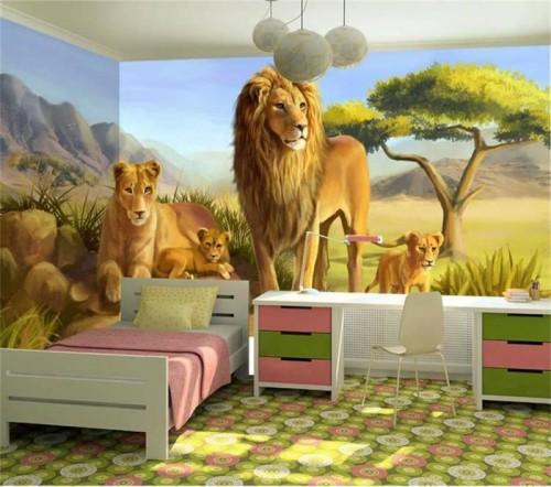 غرف-اطفال-بديكورات-ورق-الحائط-ثلاثي-الابعاد- (8)