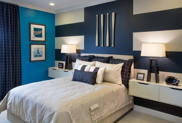 غرف-شباب-زرقاء