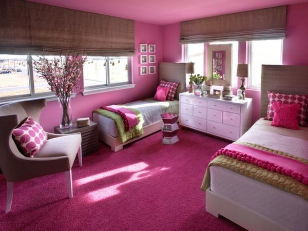 غرف-نوم-اطفال-باللون-الوردي- (11)