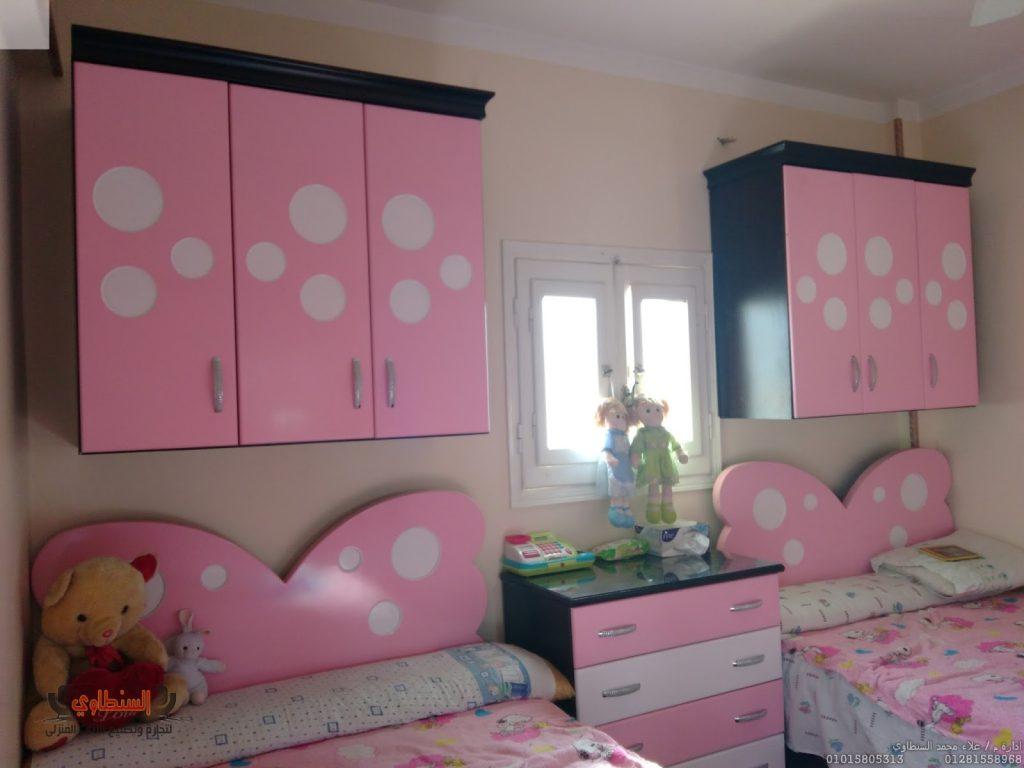 غرف-نوم-اطفال-باللون-الوردي- (14)