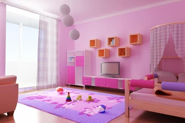 غرف-نوم-اطفال-باللون-الوردي- (18)