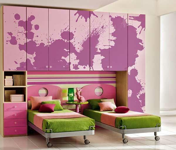 غرف-نوم-اطفال-باللون-الوردي- (19)
