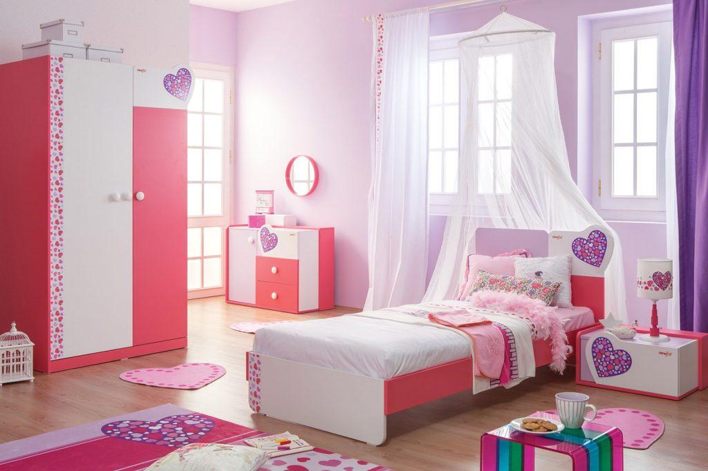 غرف-نوم-اطفال-باللون-الوردي- (2)