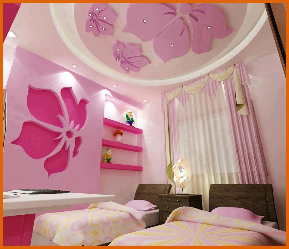 غرف-نوم-اطفال-باللون-الوردي- (21)