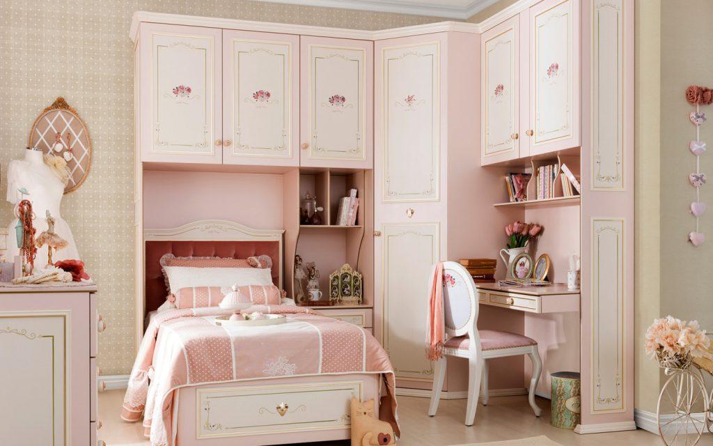 غرف-نوم-اطفال-باللون-الوردي- (24)