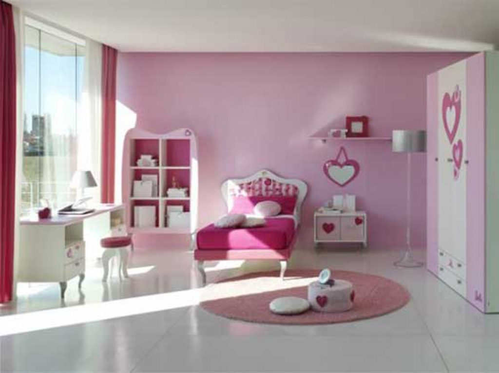 غرف-نوم-اطفال-باللون-الوردي- (26)