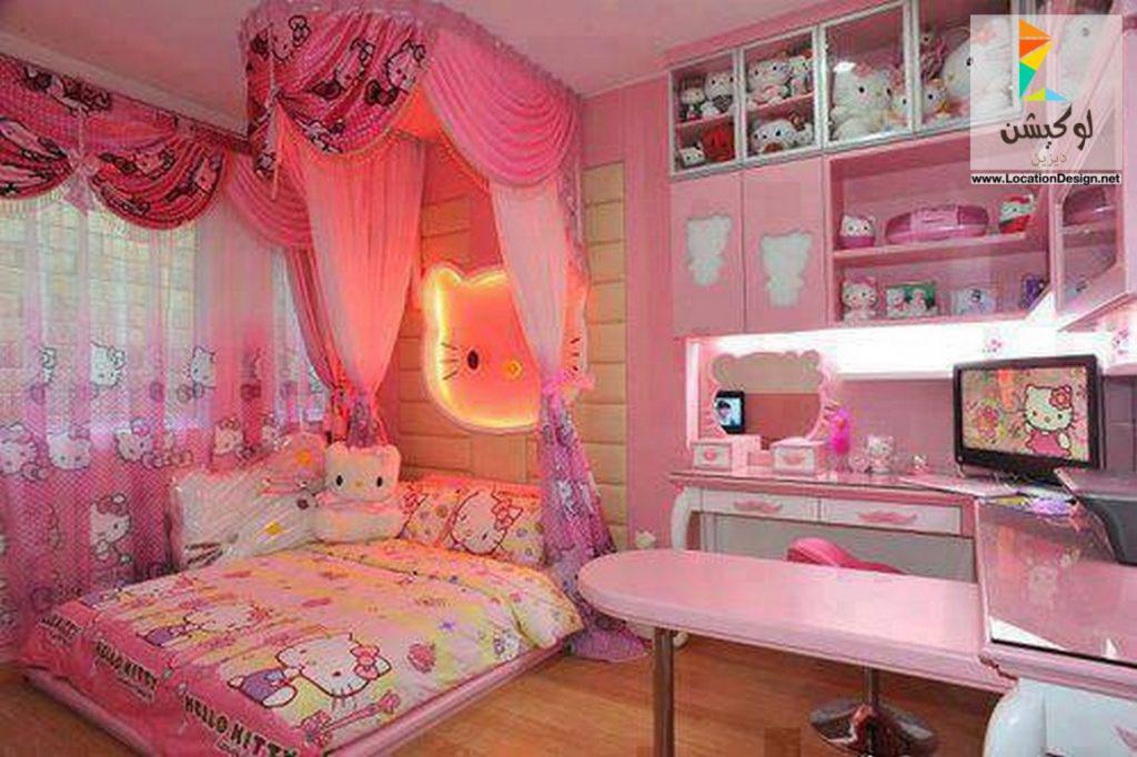 غرف-نوم-اطفال-باللون-الوردي- (4)