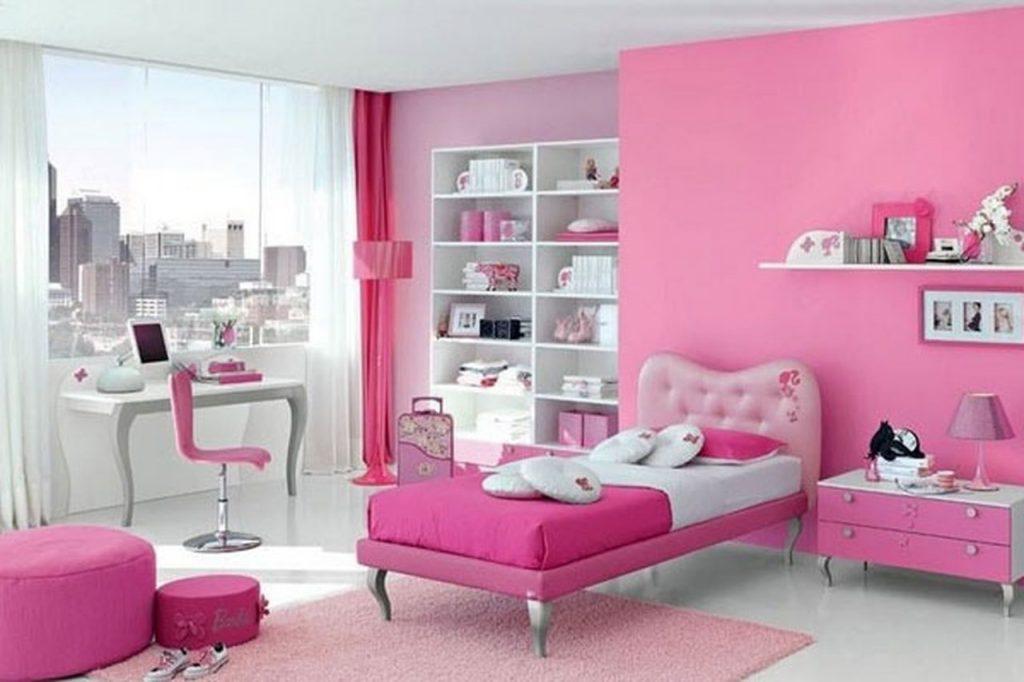 غرف-نوم-اطفال-باللون-الوردي- (7)