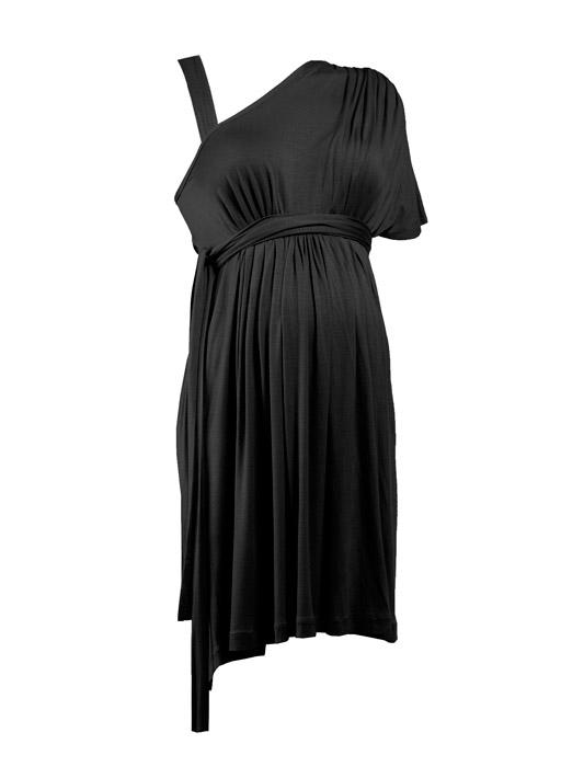 فستان-حوامل-بكتف-واحد