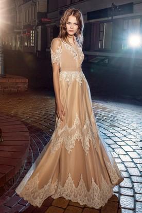 فستان-ذهبي-طويل