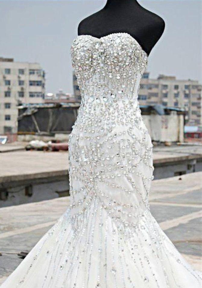 فستان-زفاف-ذيل-سمكة
