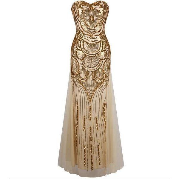 فستان-كب-ذهبي