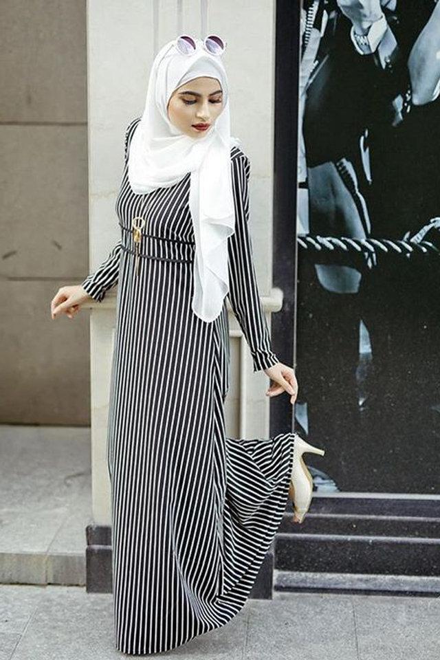 63f3958b7 لفات حجاب مناسبة لملابس الشتاء - مشاهير