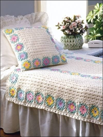 مفارش-السرير-الكروشيه-للعرايس- (13)