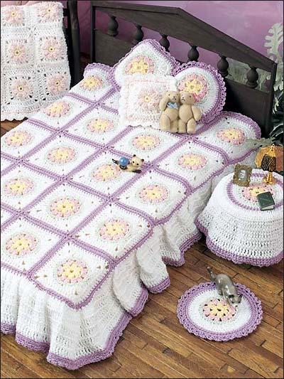 مفارش-السرير-الكروشيه-للعرايس- (9)