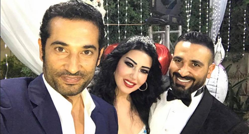 زواج الفنانة سمية الخشاب من أحمد سعد
