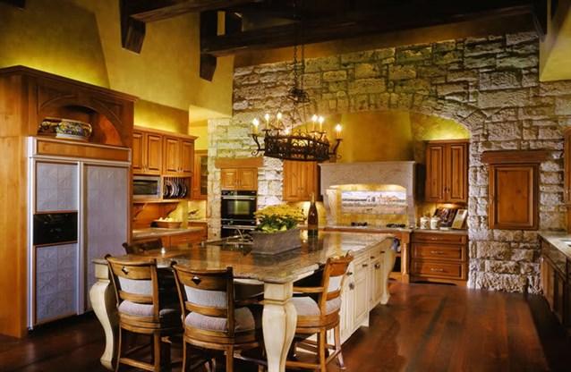 الحجر-في-ديكور-المطبخ