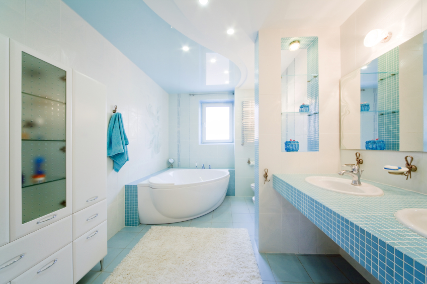 اللون-الازرق-في-الحمام