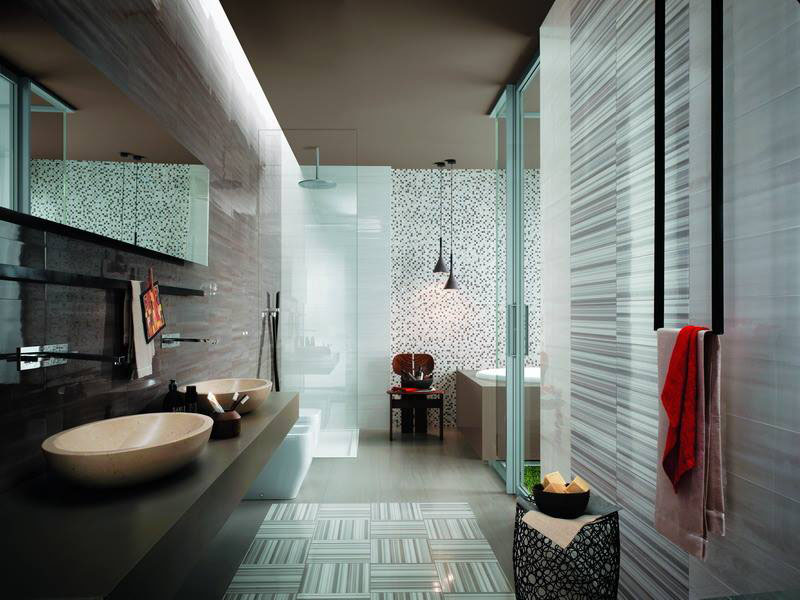 تصميم-الحمام-بالاضاءة