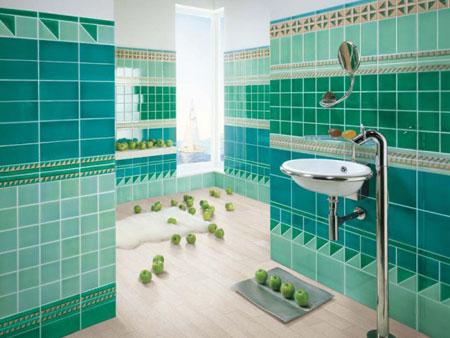 حمام-باللون-الازرق-والاخضر