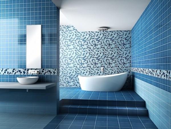 حمام-عصري-باللون-الازرق