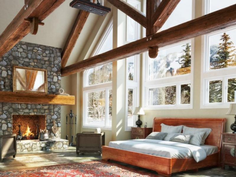 ديكورات-غرف-نوم-خشبية