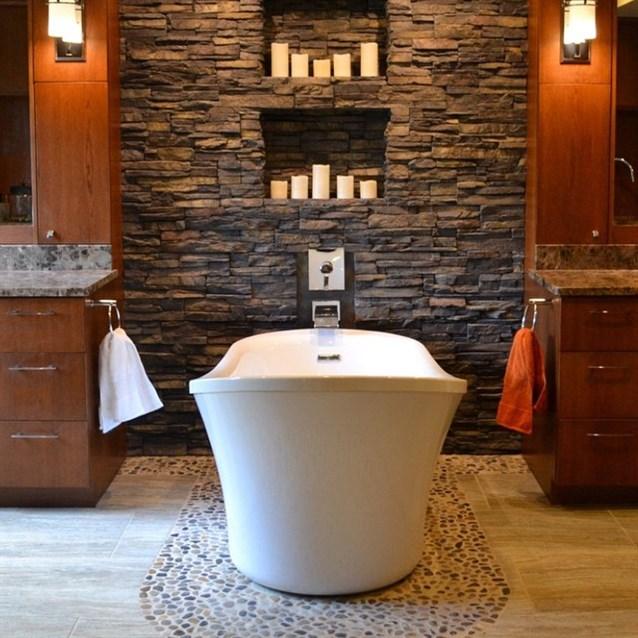 ديكور-حجري-لجدار-الحمام