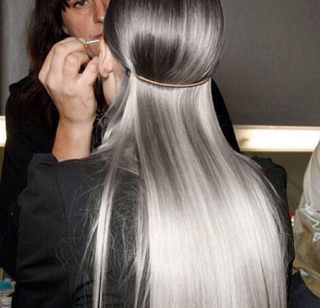 شعر-رمادي-طويل