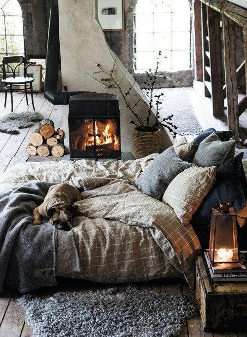 افكار ديكورات غرف نوم شتوية