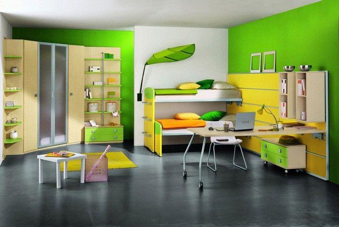 غرف-اطفال-اخضر-واصفر