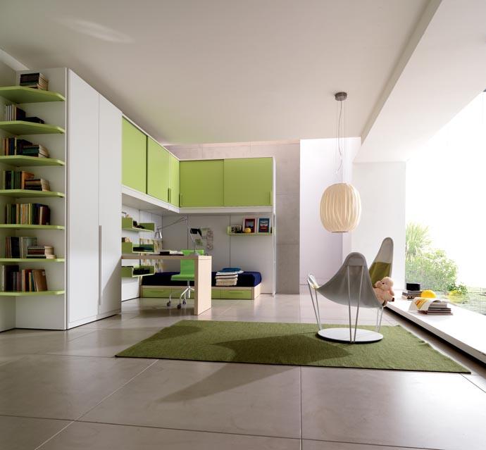 غرف-اطفال-بالاخضر-والابيض