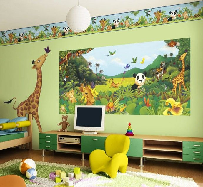 غرف نوم اطفال باللون الاخضر مشاهير