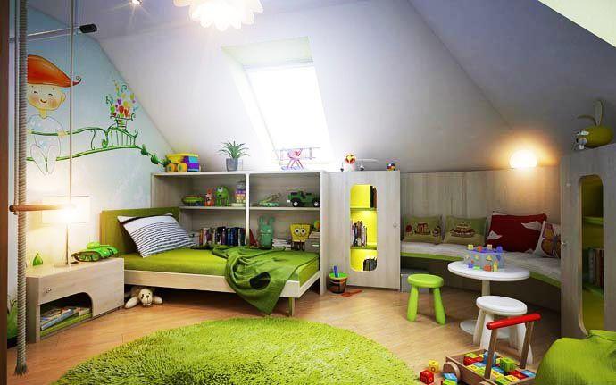 غرف-اطفال-باللون-الاخضر
