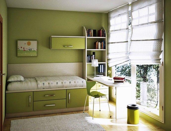 غرف-اطفال-خضراء-ضيقة