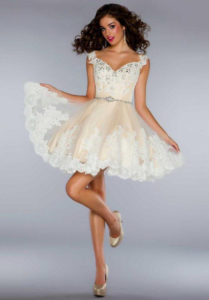 فستان-ابيض-منفوش