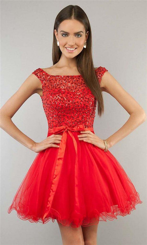 فستان-احمر-منفوش