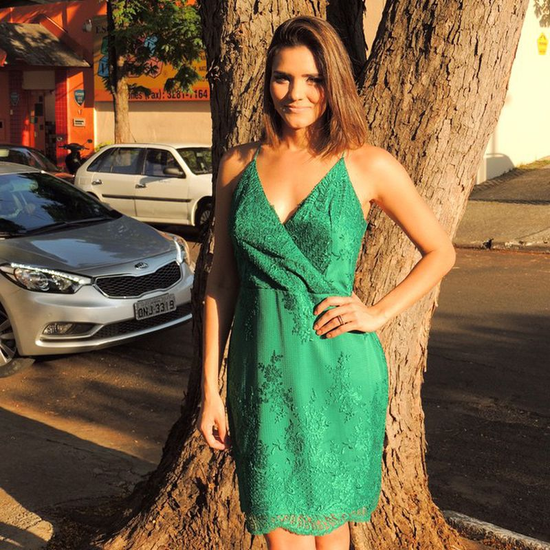 فستان-اخضر-بسيط