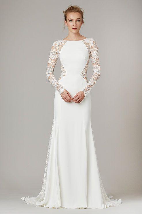 فستان-زفاف-مستقيم