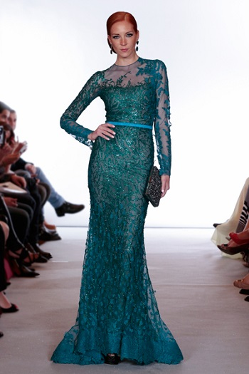 فستان-سهرة-اخضر