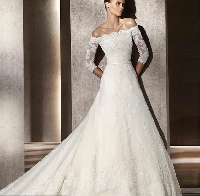 فستان-عروس-بذيل